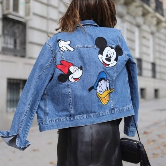 e996e19c62 Zara Disney Mickey Denim Jean Jacket XS/S